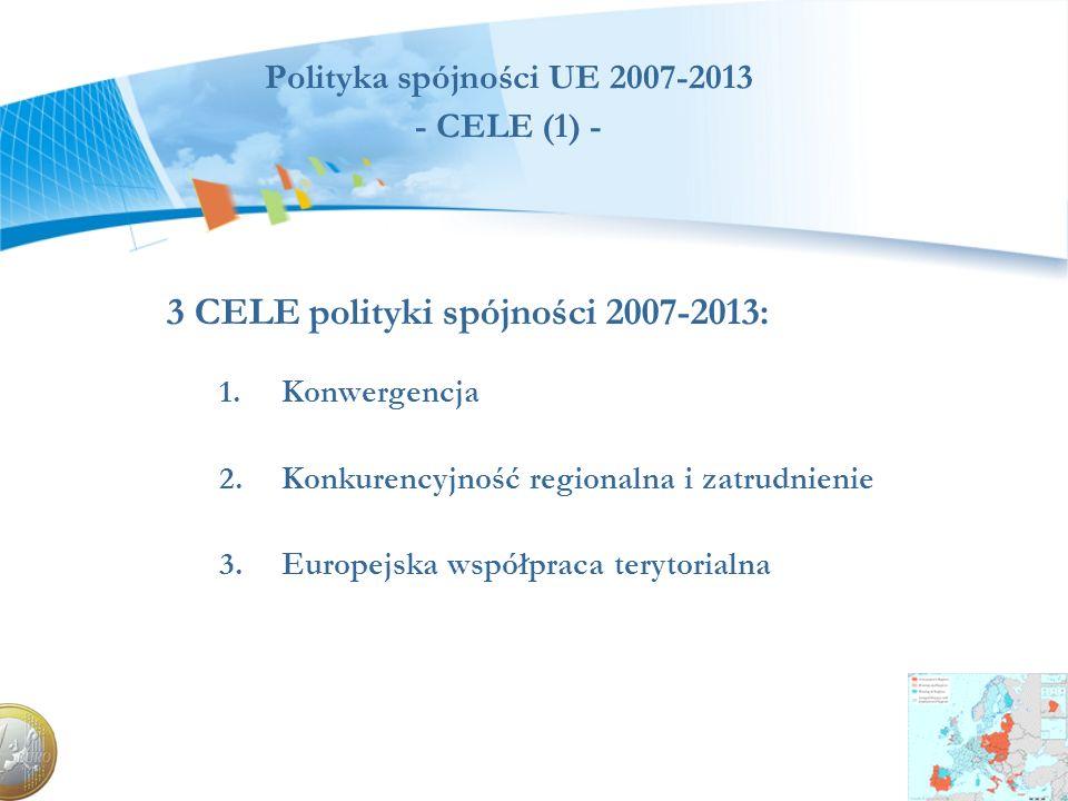 Polityka spójności UE 2007-2013 - CELE (1) -