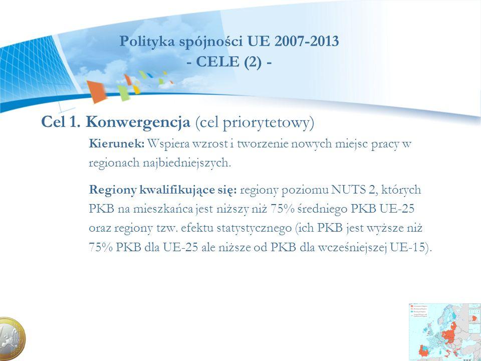 Polityka spójności UE 2007-2013 - CELE (2) -