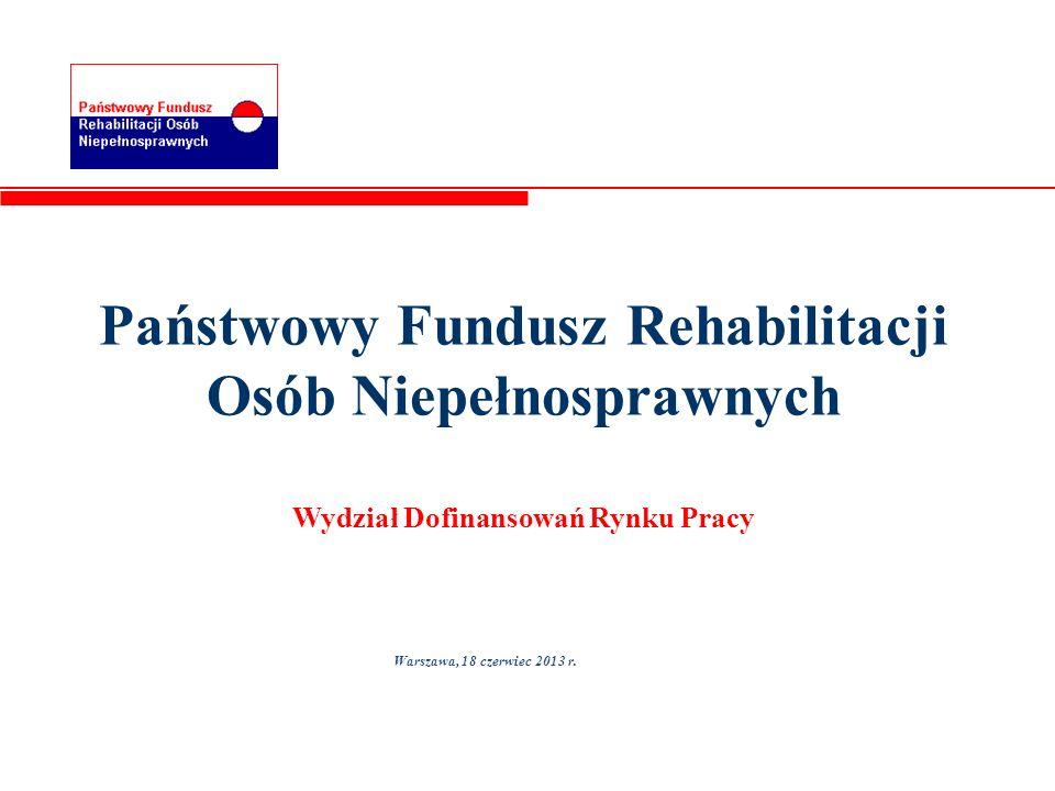 Państwowy Fundusz Rehabilitacji Osób Niepełnosprawnych Wydział Dofinansowań Rynku Pracy
