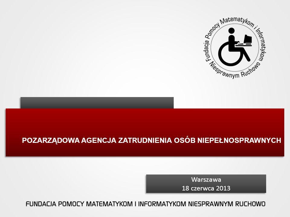 POZARZĄDOWA Agencja Zatrudnienia Osób Niepełnosprawnych