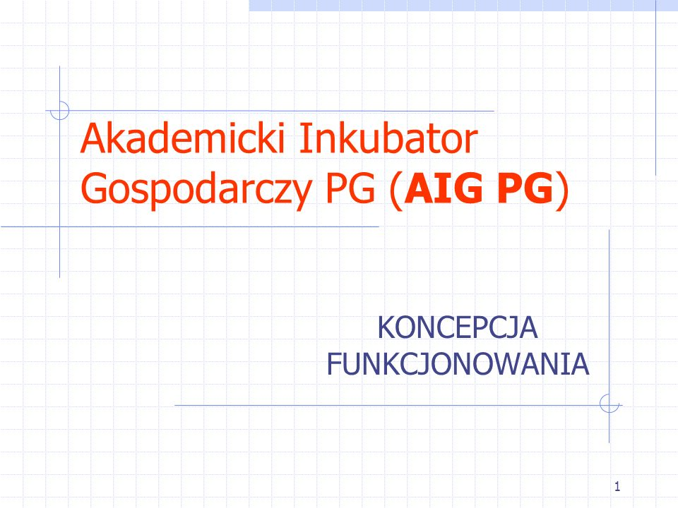 Akademicki Inkubator Gospodarczy PG (AIG PG)
