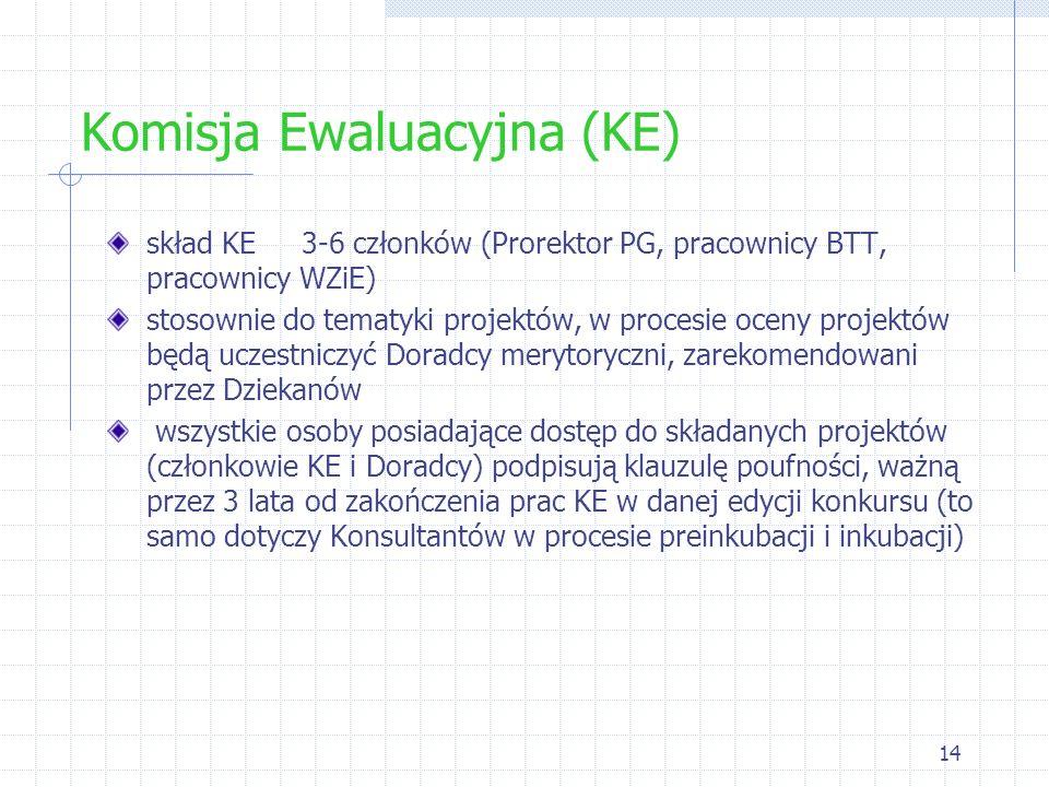 Komisja Ewaluacyjna (KE)