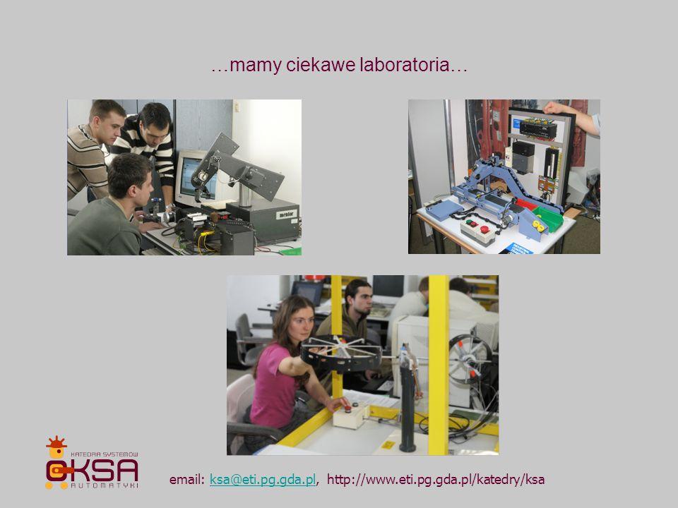 …mamy ciekawe laboratoria…