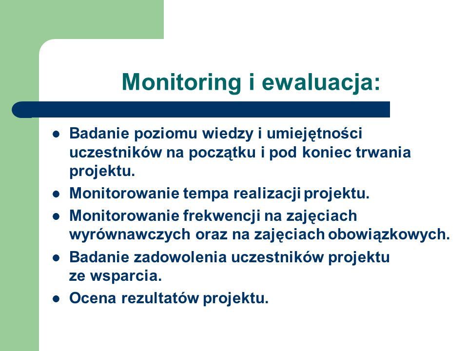 Monitoring i ewaluacja: