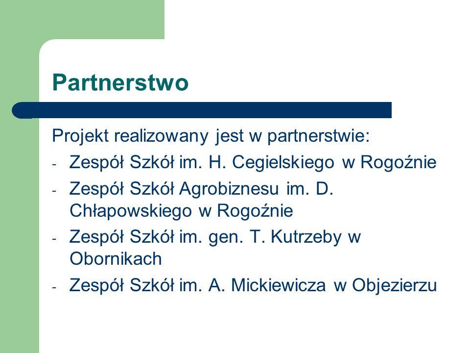 Partnerstwo Projekt realizowany jest w partnerstwie: