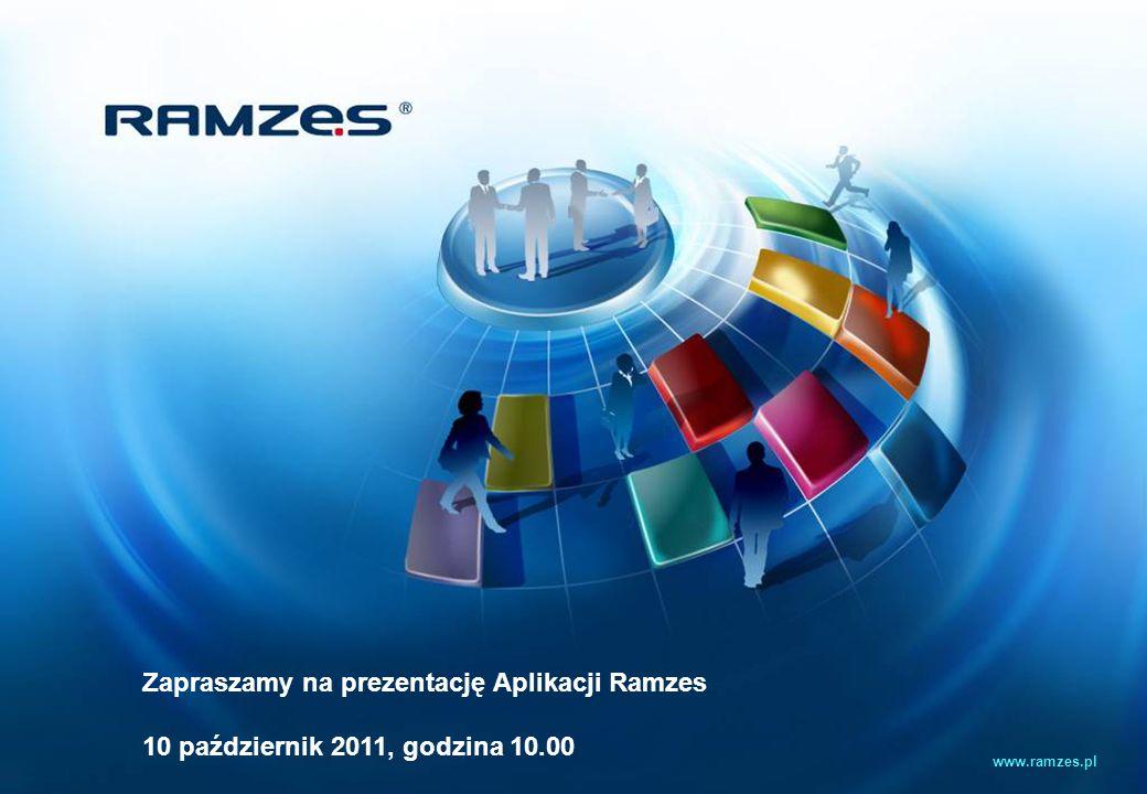 Zapraszamy na prezentację Aplikacji Ramzes 10 październik 2011, godzina 10.00