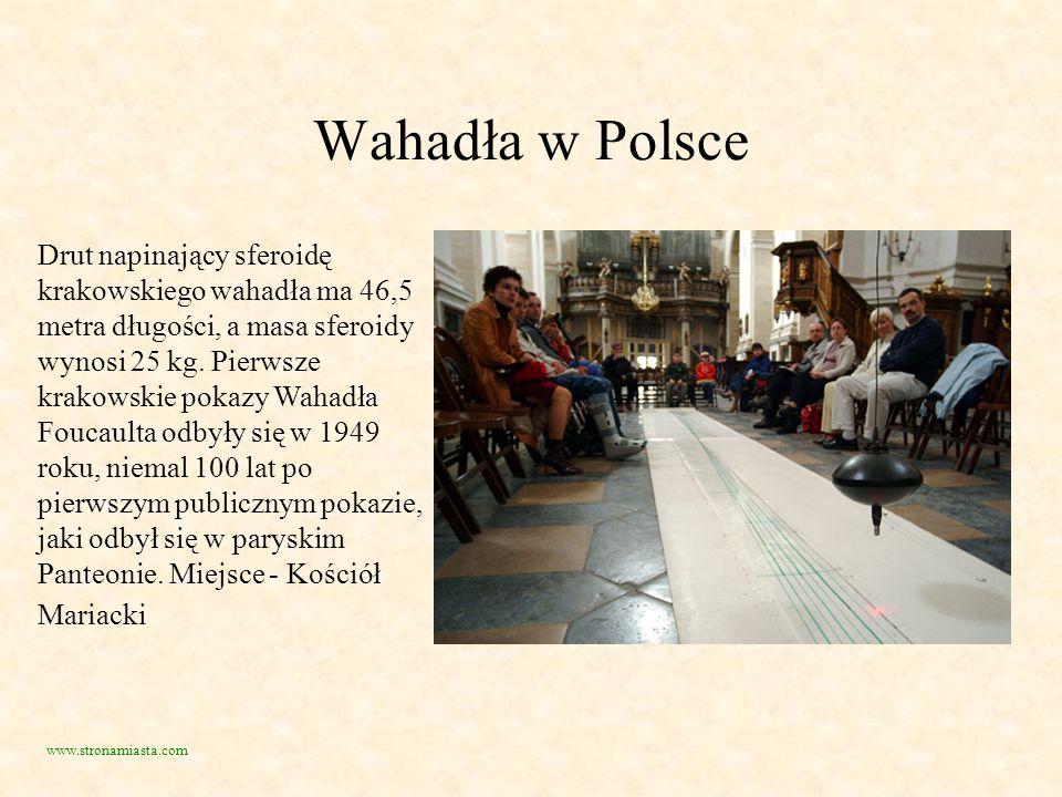 Wahadła w Polsce