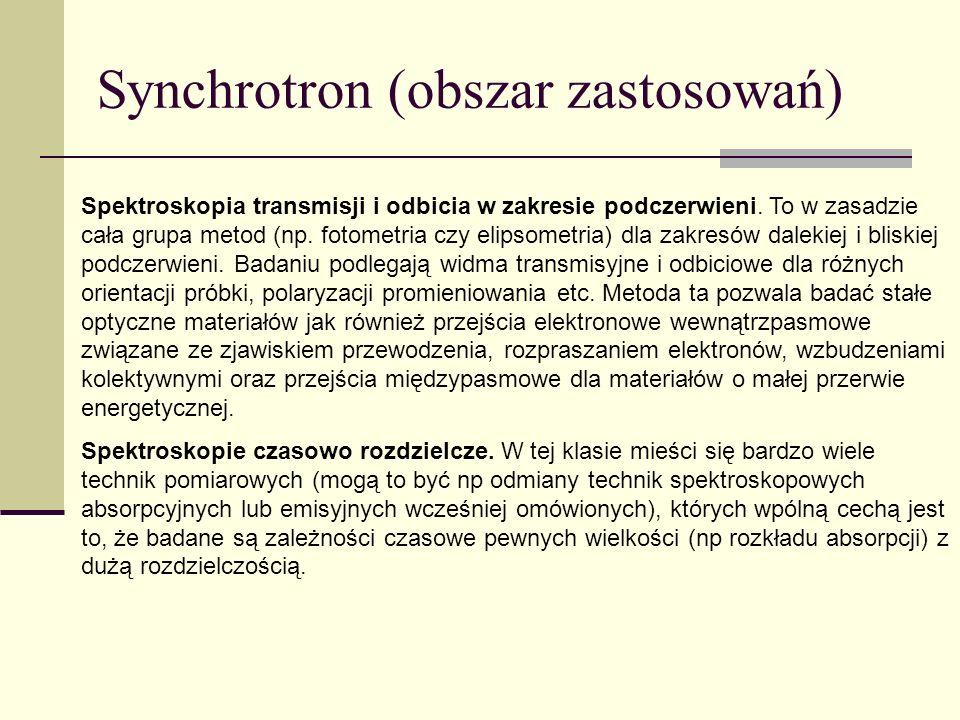 Synchrotron (obszar zastosowań)
