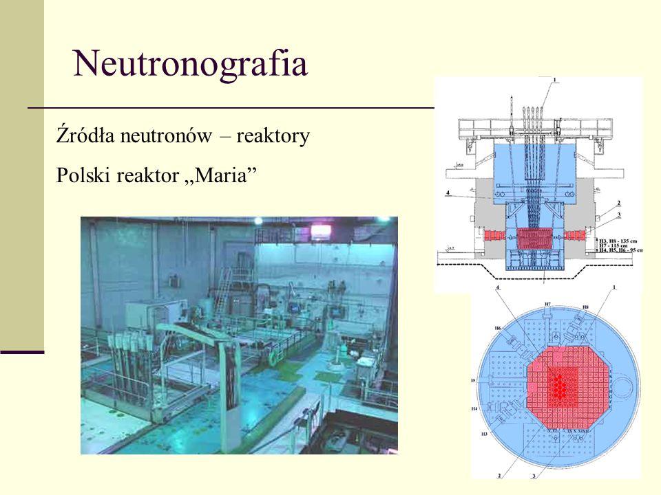 """Neutronografia Źródła neutronów – reaktory Polski reaktor """"Maria"""