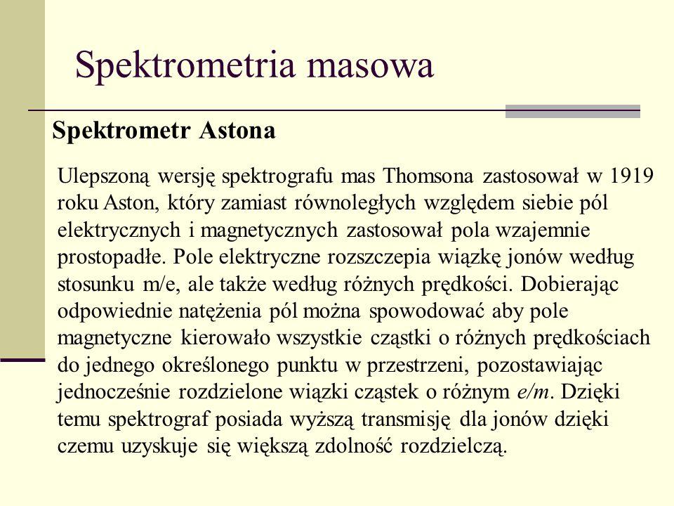 Spektrometria masowa Spektrometr Astona