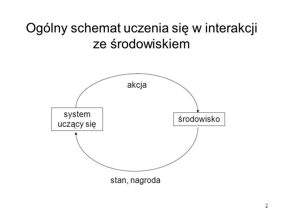 Ogólny schemat uczenia się w interakcji ze środowiskiem