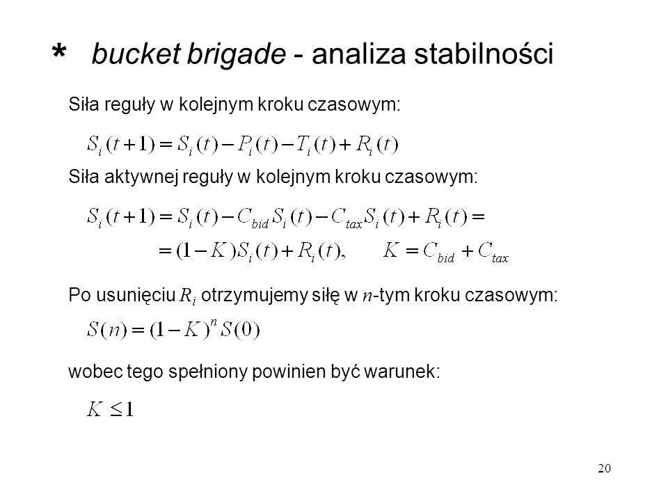 bucket brigade - analiza stabilności