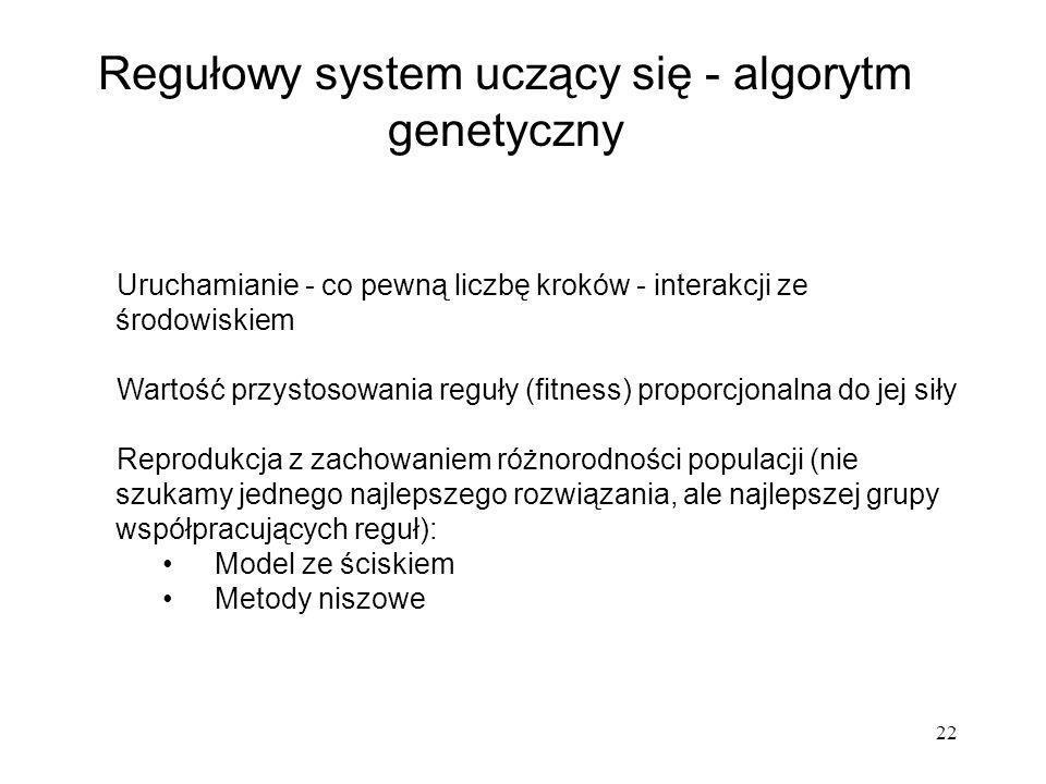 Regułowy system uczący się - algorytm genetyczny