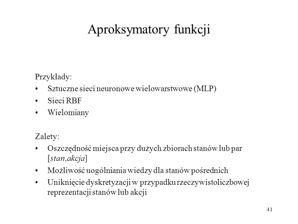 Aproksymatory funkcji