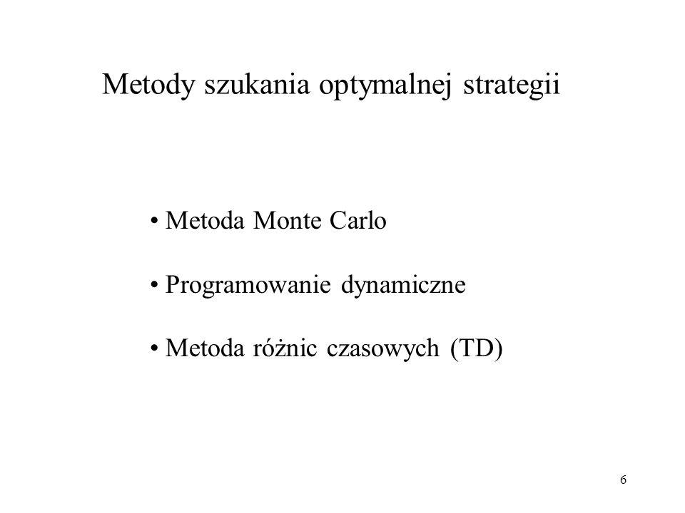 Metody szukania optymalnej strategii