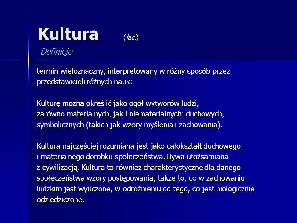 Kultura (łac.) Definicje