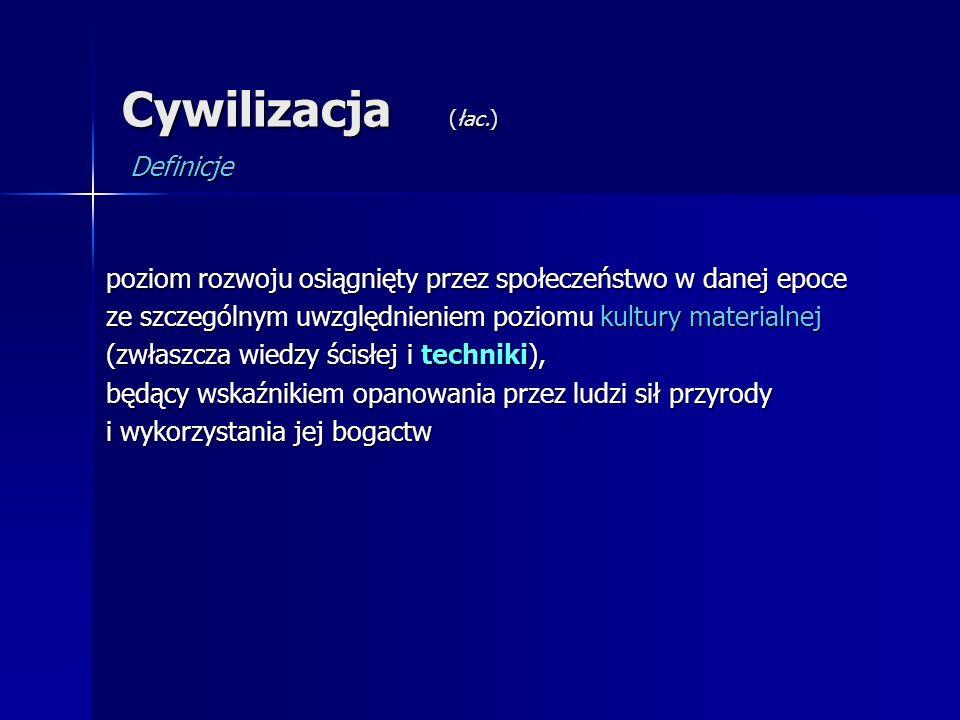 Cywilizacja (łac.) Definicje