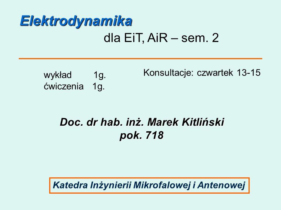 Doc. dr hab. inż. Marek Kitliński