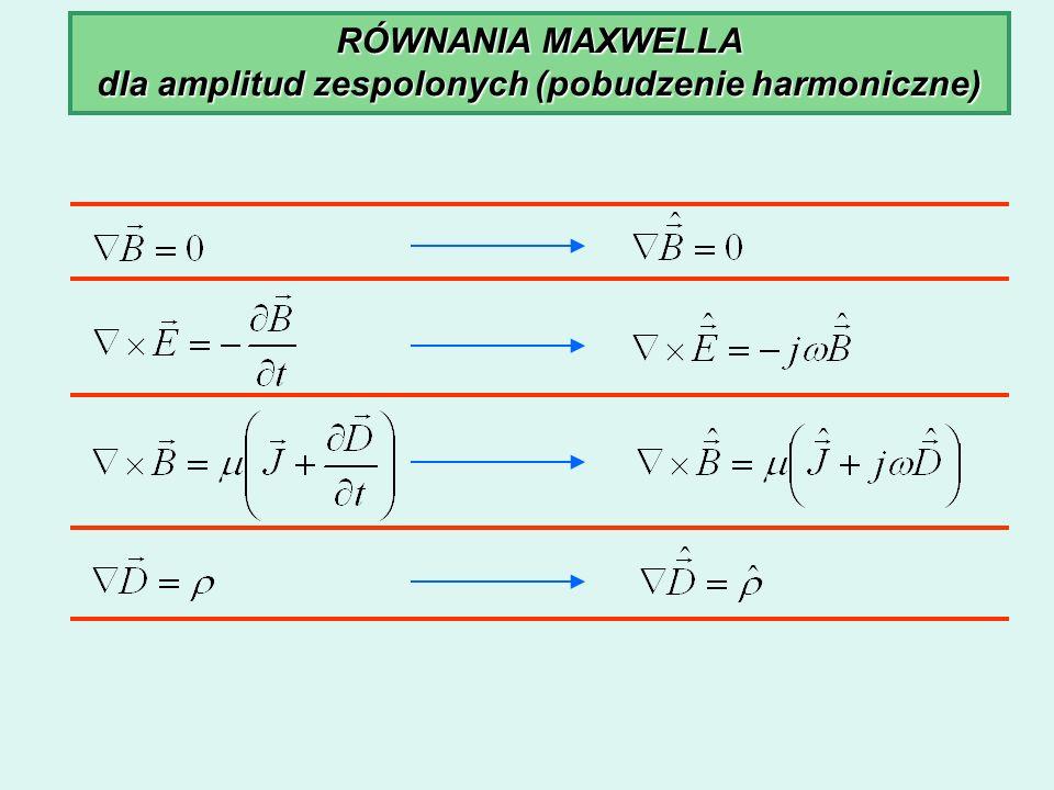dla amplitud zespolonych (pobudzenie harmoniczne)