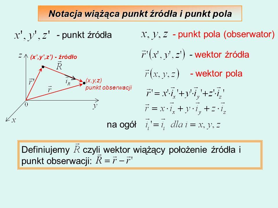 Notacja wiążąca punkt źródła i punkt pola