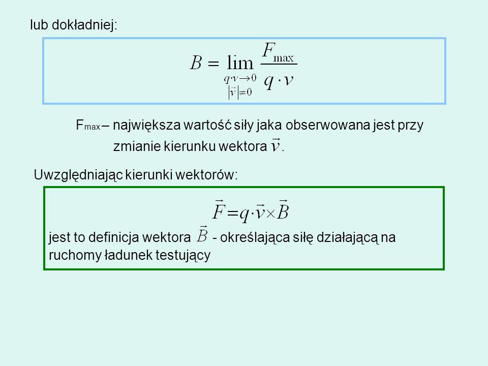 lub dokładniej: Fmax – największa wartość siły jaka obserwowana jest przy. zmianie kierunku wektora .