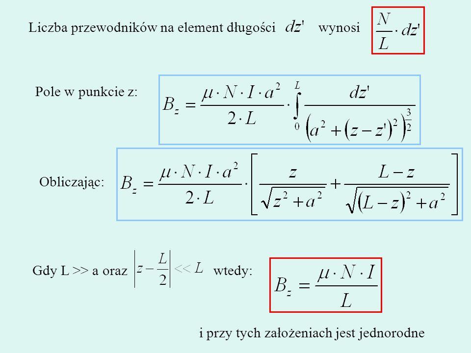 Liczba przewodników na element długości wynosi