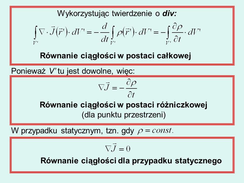 Równanie ciągłości w postaci różniczkowej