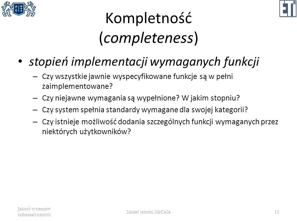 Kompletność (completeness)