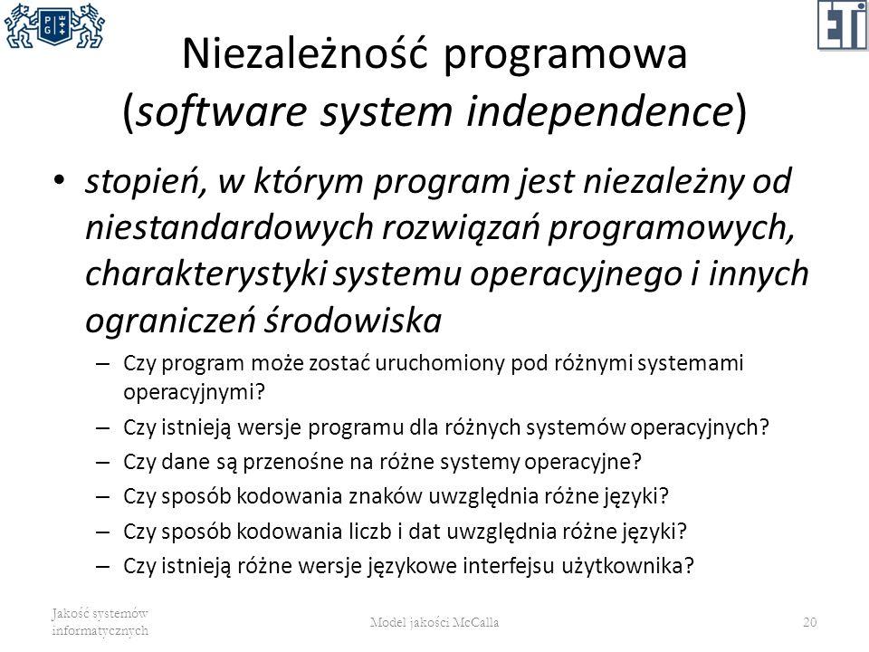 Niezależność programowa (software system independence)
