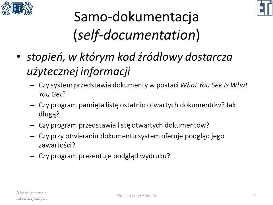 Samo-dokumentacja (self-documentation)