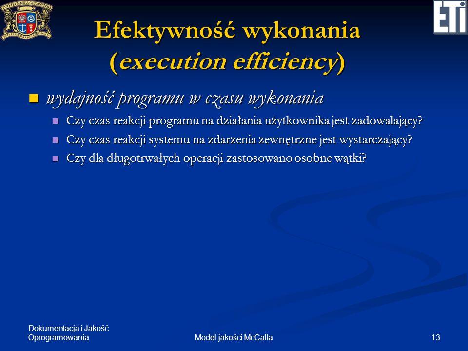 Efektywność wykonania (execution efficiency)