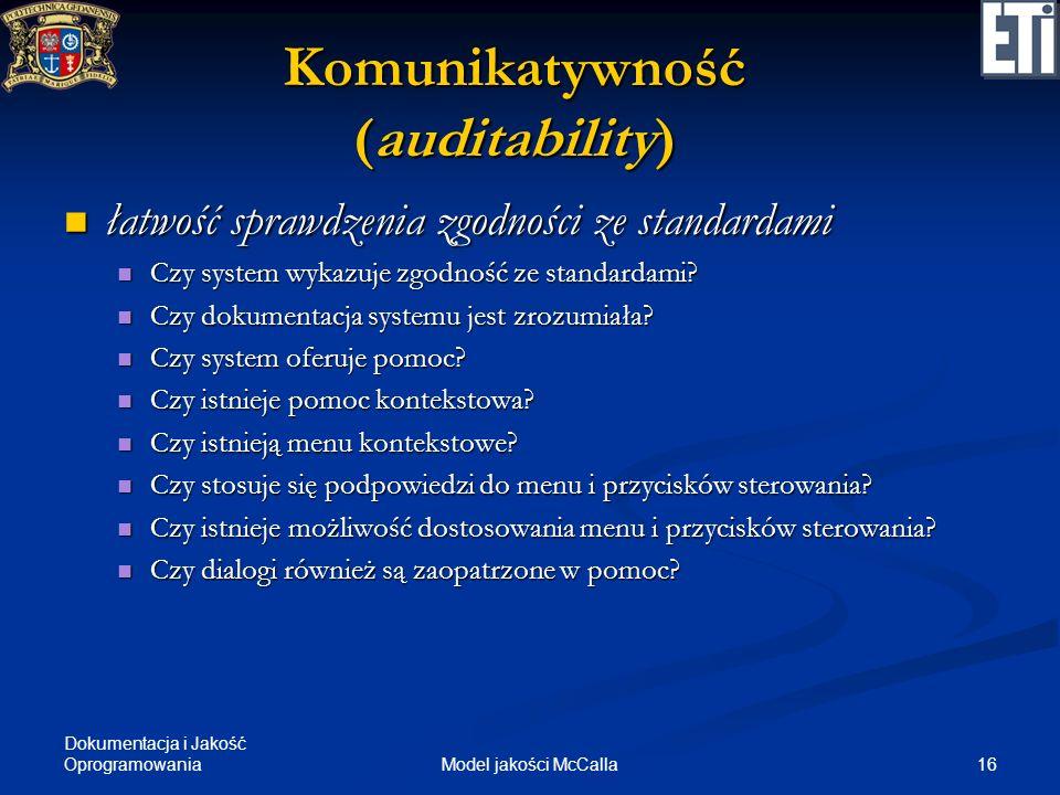 Komunikatywność (auditability)