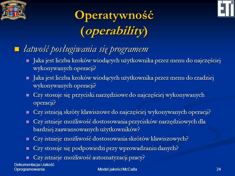 Operatywność (operability)