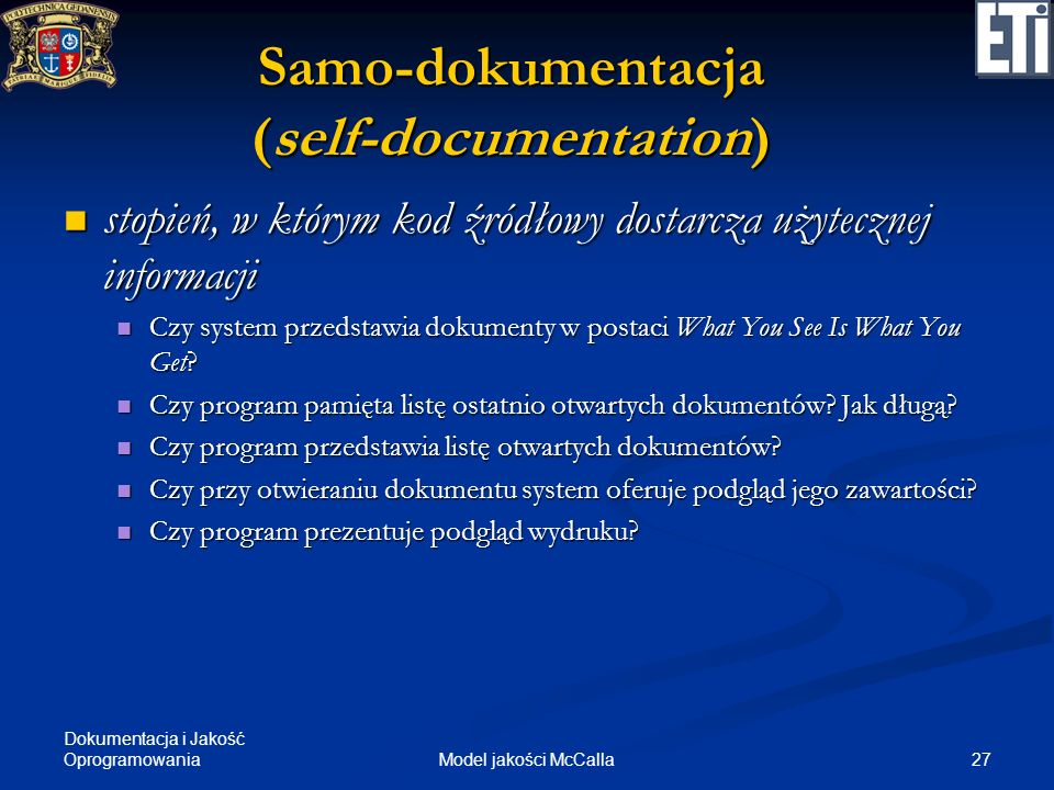 Samo-dokumentacja (self-documentation)