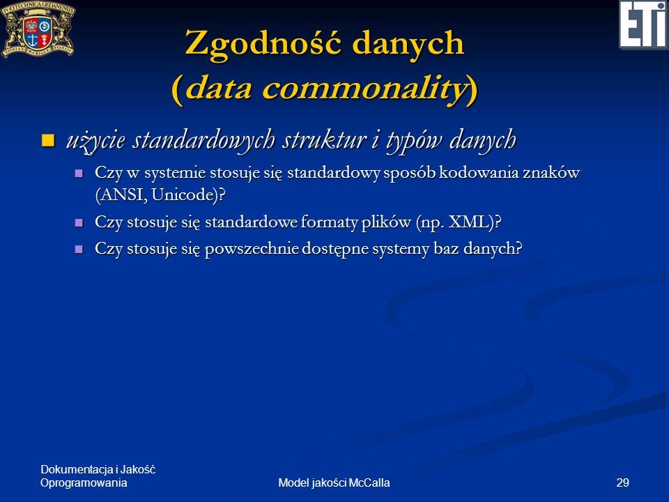 Zgodność danych (data commonality)