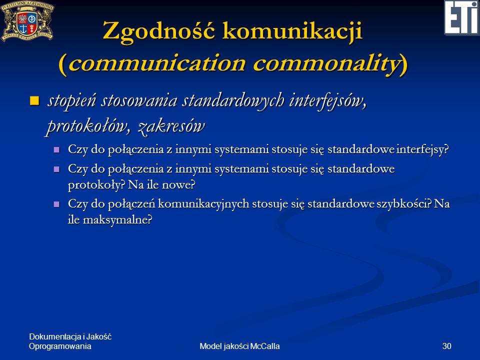 Zgodność komunikacji (communication commonality)