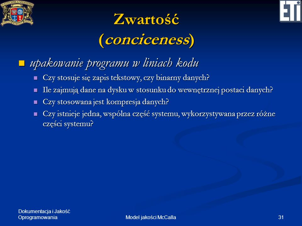 Zwartość (conciceness)