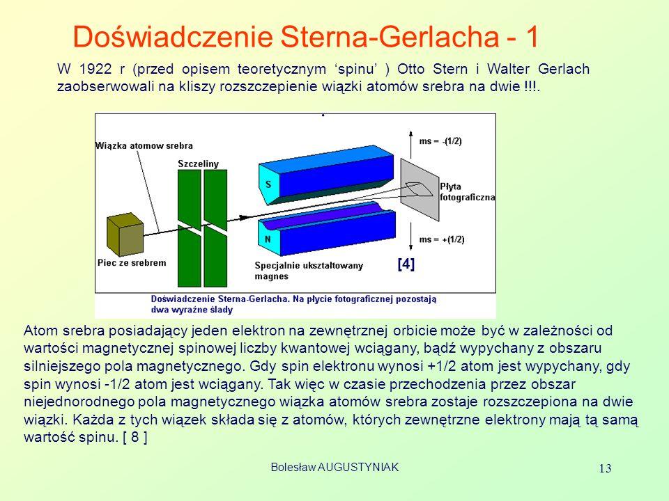 Doświadczenie Sterna-Gerlacha - 1