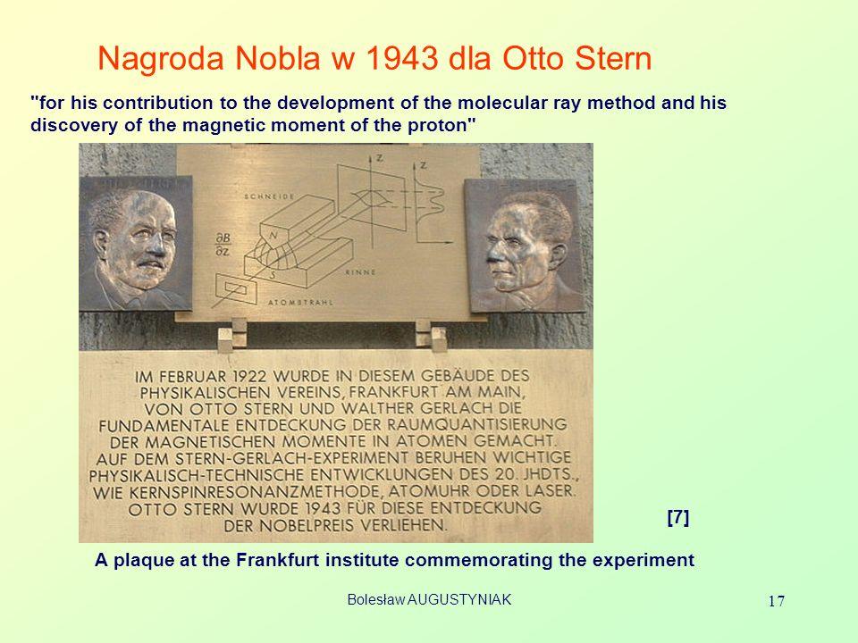 Nagroda Nobla w 1943 dla Otto Stern