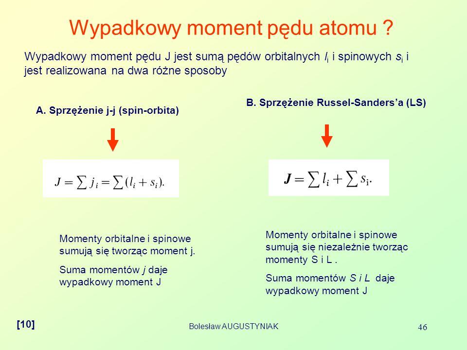 Wypadkowy moment pędu atomu