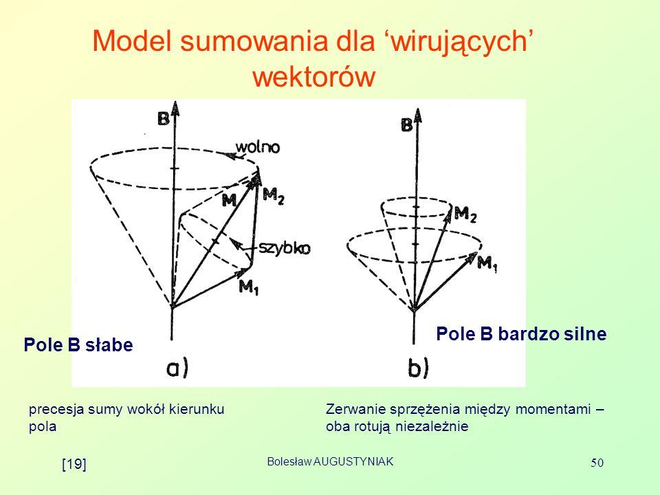 Model sumowania dla 'wirujących' wektorów