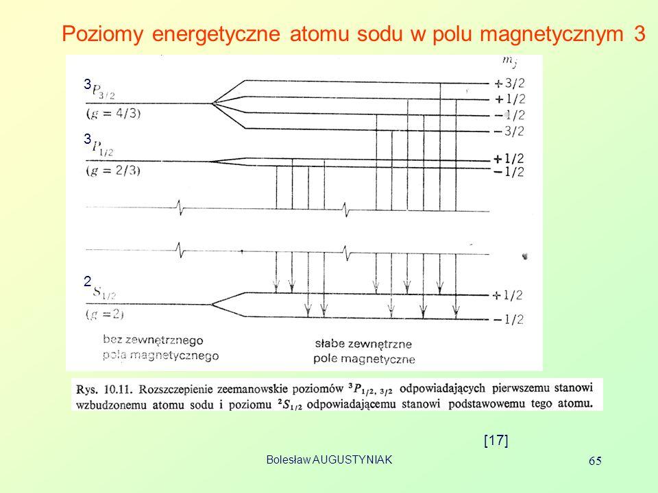 Poziomy energetyczne atomu sodu w polu magnetycznym 3
