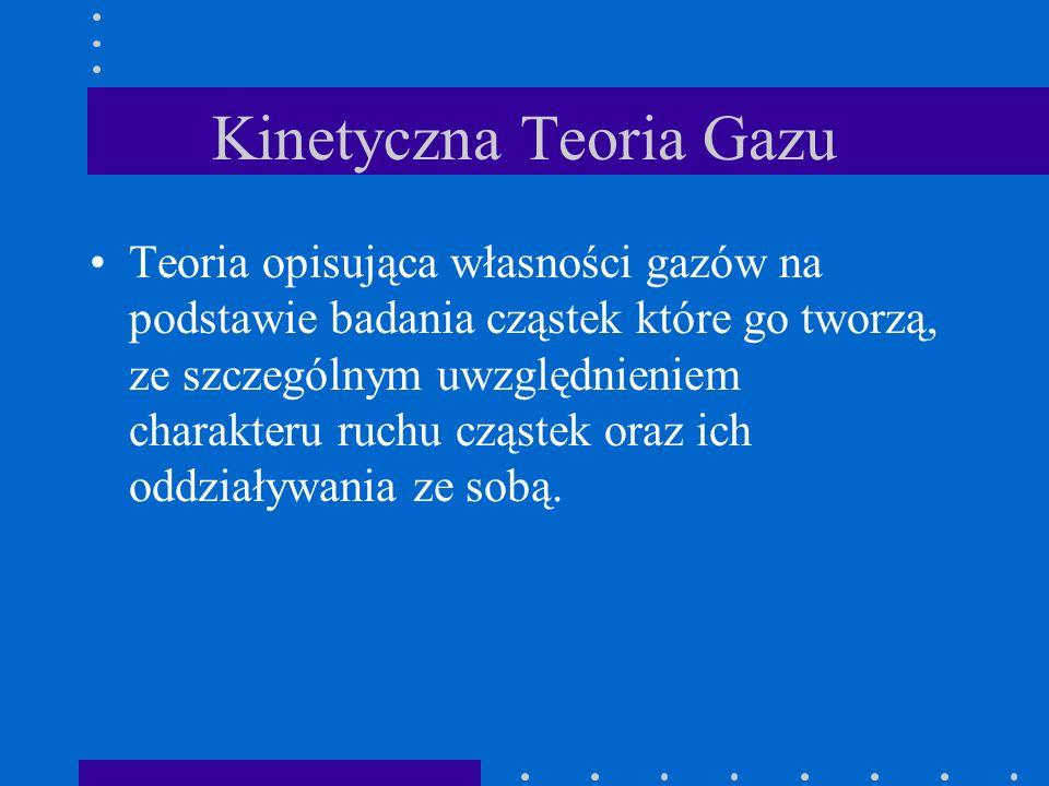 Kinetyczna Teoria Gazu