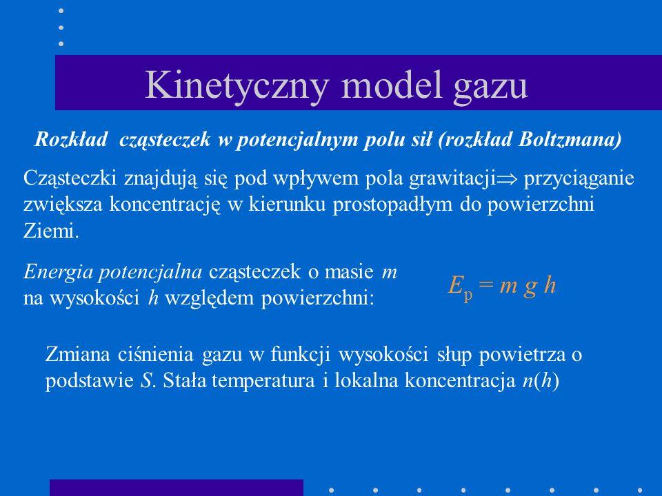 Kinetyczny model gazu Ep = m g h