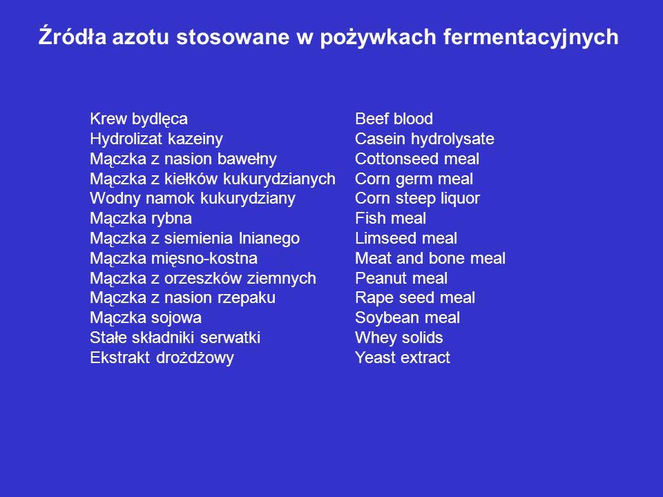 Źródła azotu stosowane w pożywkach fermentacyjnych