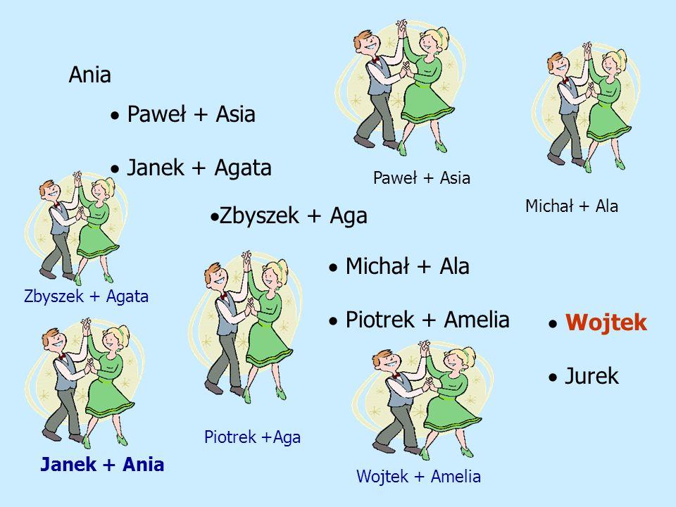 Ania  Paweł + Asia  Janek + Agata Zbyszek + Aga Michał + Ala