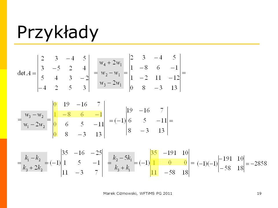 Marek Ciżmowski, WFTiMS PG 2011