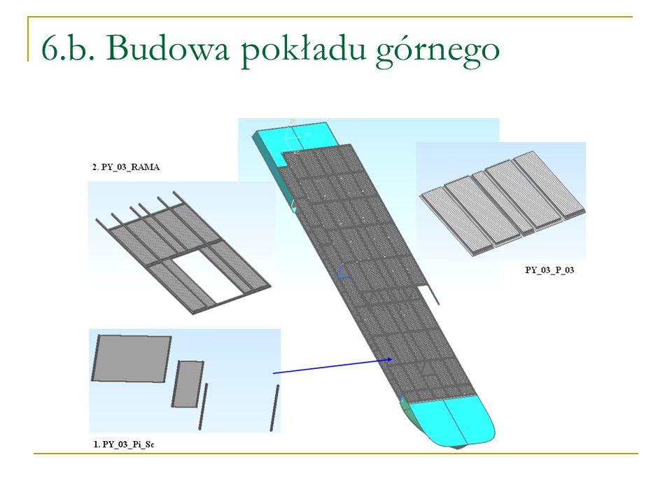 6.b. Budowa pokładu górnego
