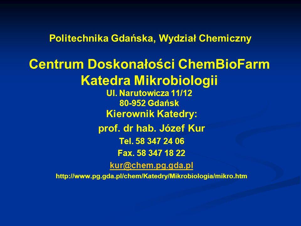 Politechnika Gdańska, Wydział Chemiczny