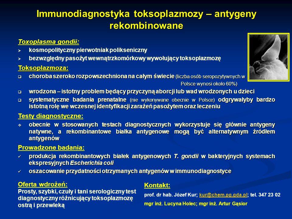 Immunodiagnostyka toksoplazmozy – antygeny rekombinowane